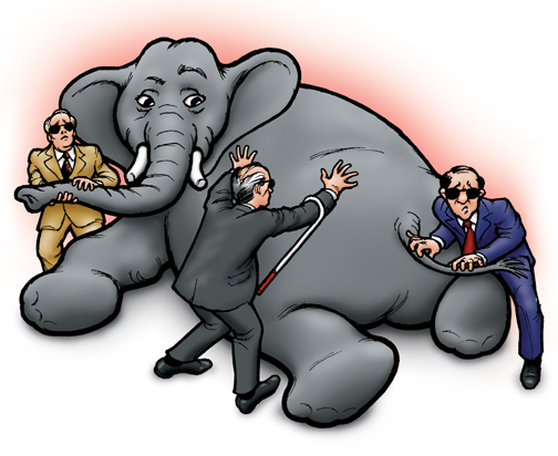 3 blind men and an elephant